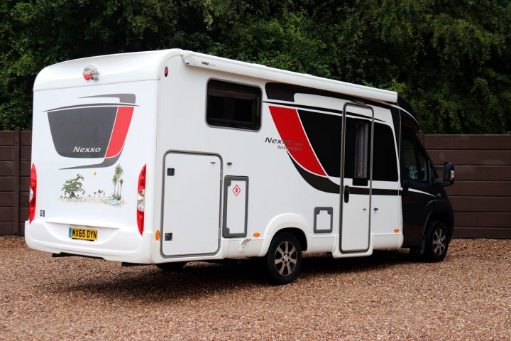 Burstner Nexxo T690G Sovereign - Offside Rear