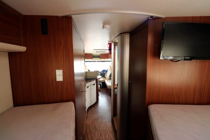 Hymer S830 - View from Rear Bed